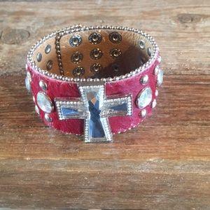 Jewelry - Leather cowhide bracelet